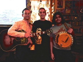 Nick Lantigua, Craig Donovan and Jake Brown after a set at ETG Book Cafe. photo credit: Craig Donovan
